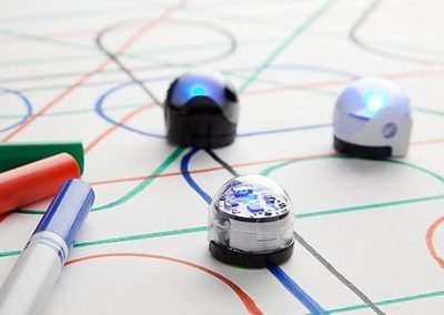 Ozobots following colored lines