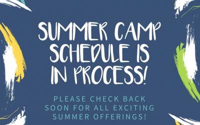 Summer Camp Schedule In Progress